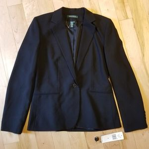 NWT Lauren Ralph Lauren classic black blazer